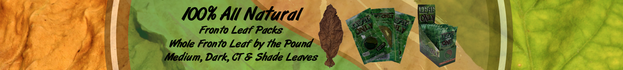 Leaf Only Fronto Leaf Packs. Single Fronto Leaves for sale Leaf Only brand.