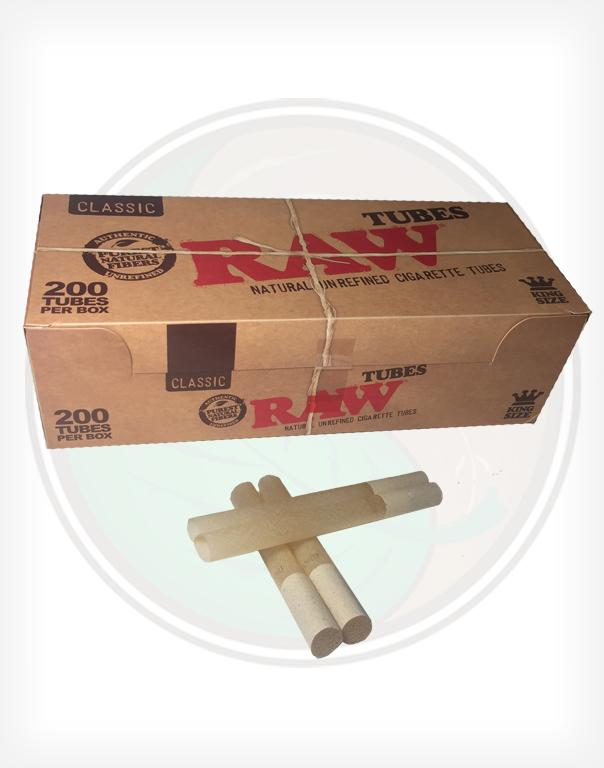 Raw All Natural Unrefined Cigarette Tubes King Sized 200ct