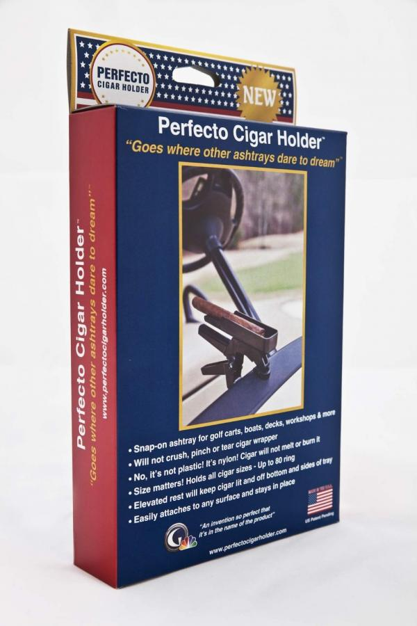 Clamp Style Ashtray Ash Tray for Cigars Perfecto Cigar Holder Goes on fuel pump for golf carts, basket for golf carts, soft top for golf carts, mirrors for golf carts, rechargeable batteries for golf carts, seats for golf carts, radio for golf carts, battery for golf carts, floor mats for golf carts, fan for golf carts, wheels for golf carts, solar panels for golf carts, sun visor for golf carts, emergency lights for golf carts, roof rack for golf carts, cup holder for golf carts,
