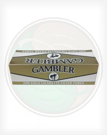 Gambler Gold Light 84mm king length Roll Make Your Own Cigarette Empty Tubes 250ct
