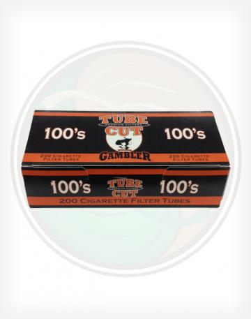 Gambler Tube Cut Full Flavor 100mm length Roll Make Your Own Cigarette Empty Tubes 250ct