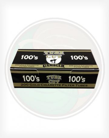 Gambler Tube Cut Gold Light 100mm length Roll Make Your Own Cigarette Empty Tubes 250ct