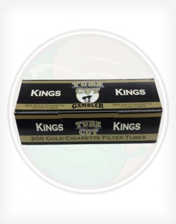 Gambler Tube Cut Gold Light 84mm king length Roll Make Your Own Cigarette Empty Tubes 250ct