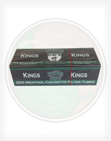 Gambler Tube Cut menthol 84mm King length Roll Make Your Own Cigarette Empty Tubes 250ct