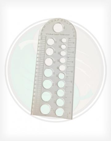 Leaf Only Laser Cut Cigar Ring Gauge Guide and Ruler