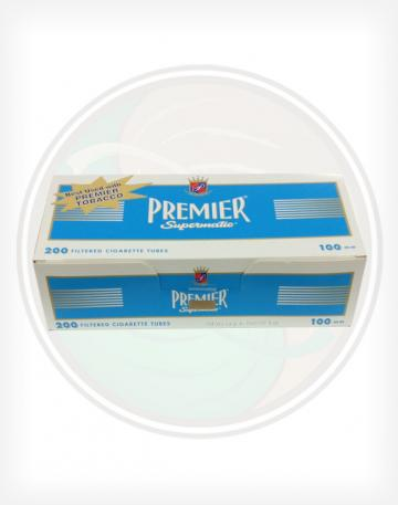 Premier Light Blue 100mm length Roll Make Your Own Cigarette Empty Tubes 200ct