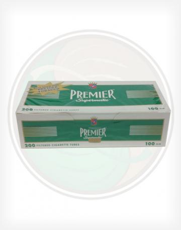 Premier Menthol Green 100mm length Roll Make Your Own Cigarette Empty Tubes 200ct