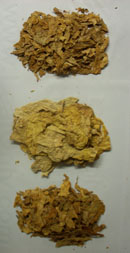 Processed Virginia Flue Cured, Unmanufactured Tobacco Leaf for Hookah